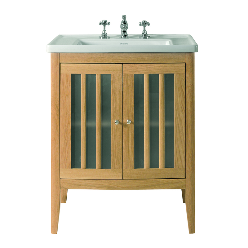 Radcliffe linea vanity unit with frosted glass doors and basin 685mm buy online at bathroom city for Bathroom vanity with frosted glass doors