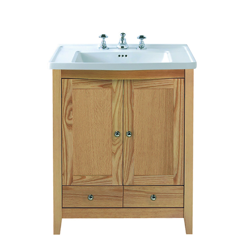 Radcliffe Esteem Square Vanity Unit 2 Wooden Doors 2 Drawers With Radcliffe Vanity Basin