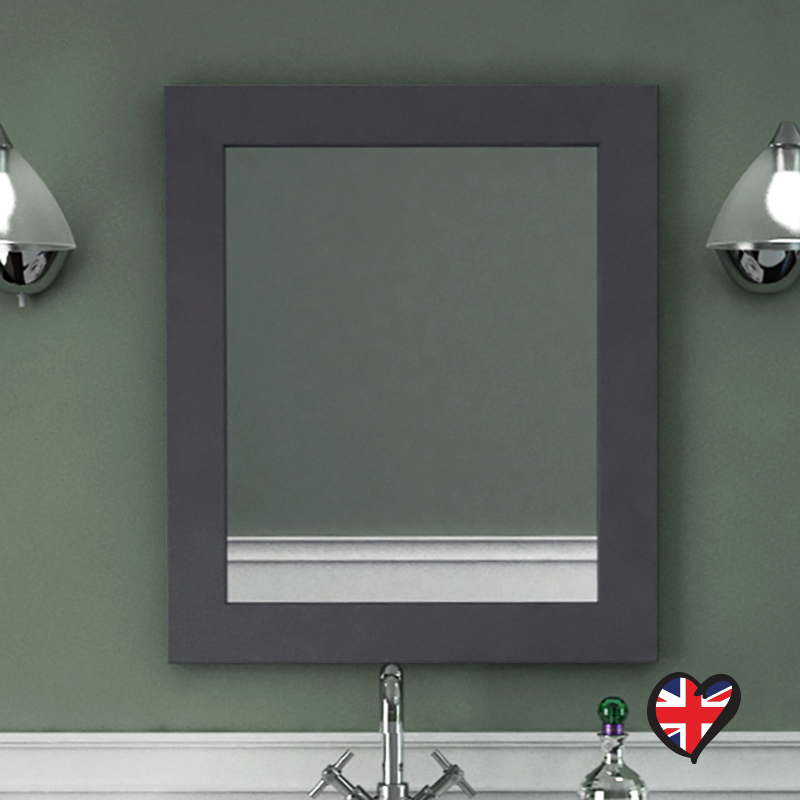 buy insolito carolla bathroom mirror charcoal grey 16307