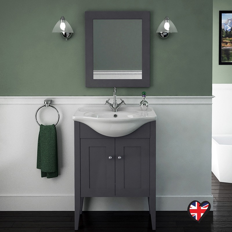 Carolla Vanity Unit And Basin Charcoal Grey Buy Online At Bathroom City