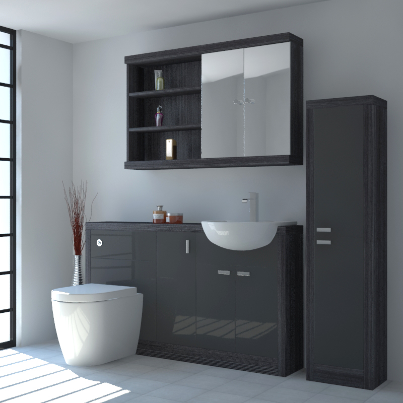 Hacienda 1500 Fitted Furniture Pack Grey Buy Online At