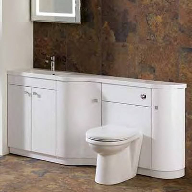 Oslo corner combi unit 2 buy online at bathroom city for Small fitted bathrooms