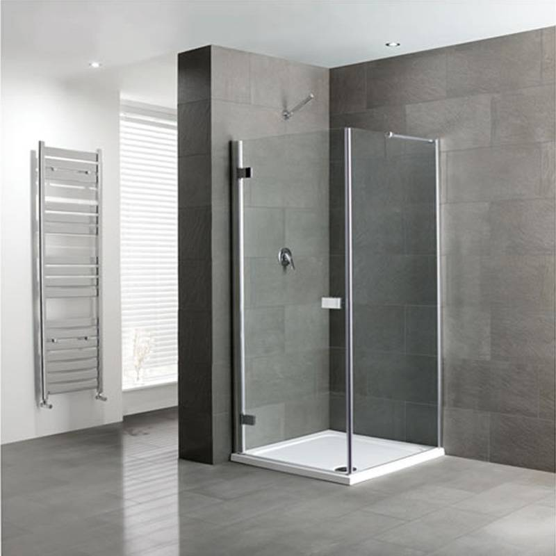 Volente Frameless hinge Door Silver Shower enclosure Buy Online at ...