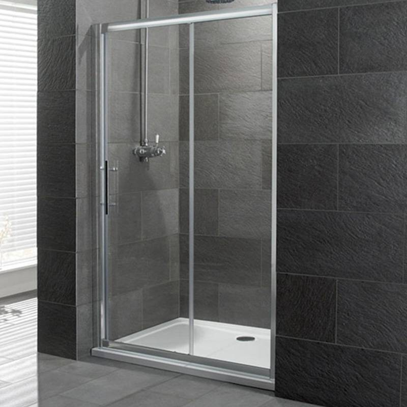 Volente Slider Silver Shower Enclosure Buy Online at Bathroom City