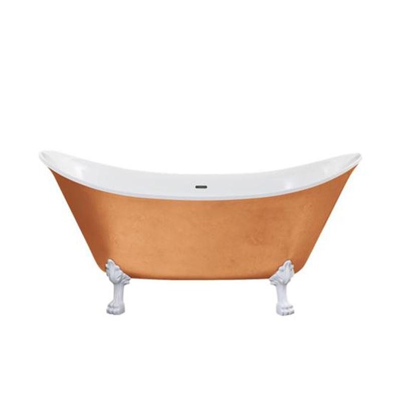 Lyddington FS Bath Copper Effect white feet - 16998/1