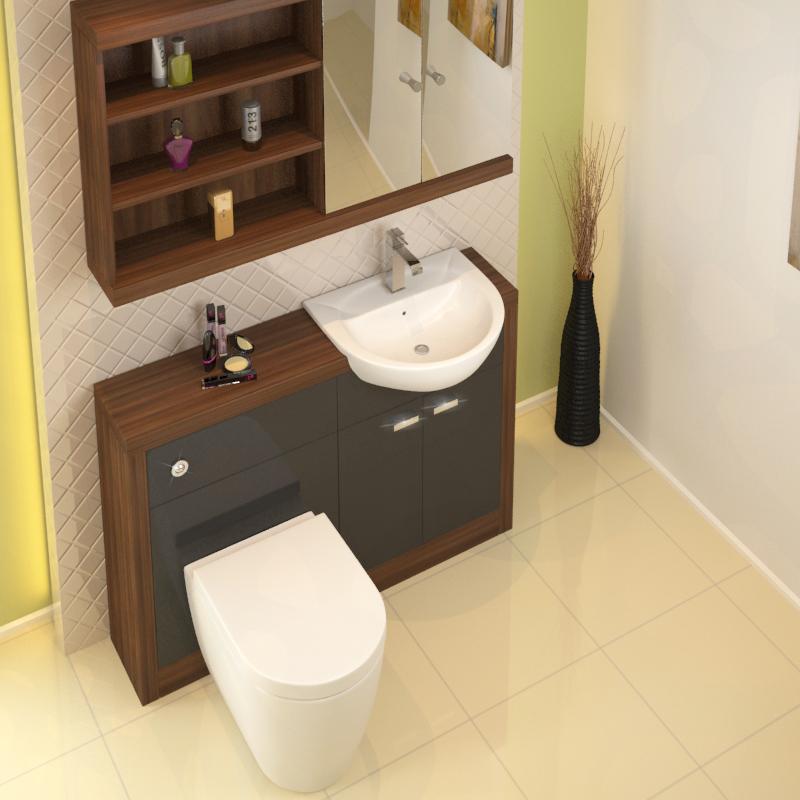 Lucido 1200 Vanity Unit Grey Buy Online At Bathroom City