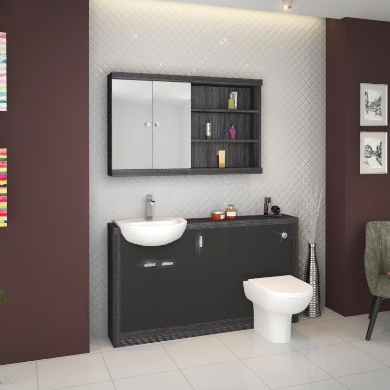 Hacienda 1500 Vanity Unit Grey Buy Online At Bathroom City