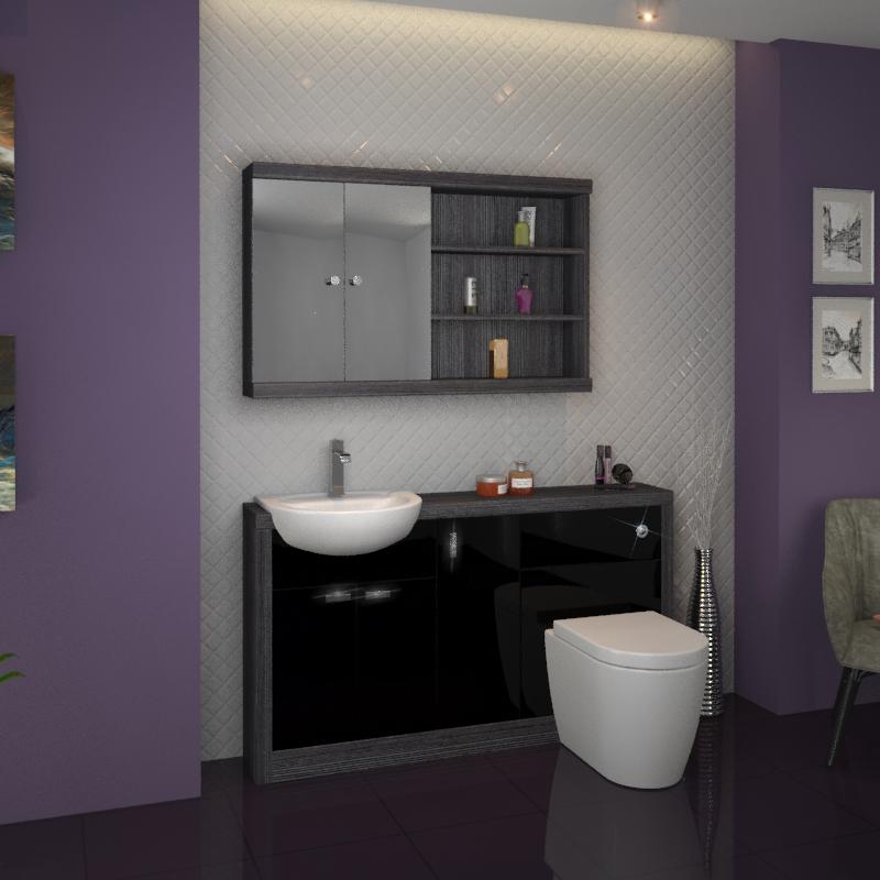 Hacienda 1500 Vanity Unit Black Buy Online At Bathroom City