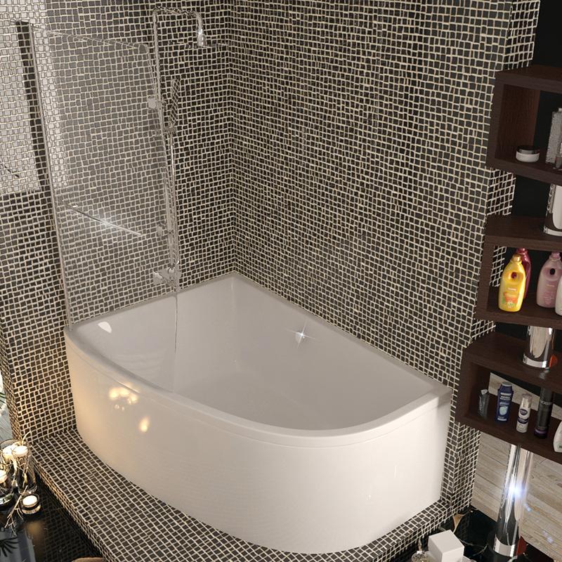 Clia Left Hand Corner Bath And Panel & screen Buy Online at Bathroom ...