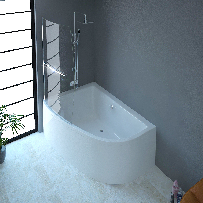 Clia Left Hand Corner Bath And Panel & Screen Buy Online
