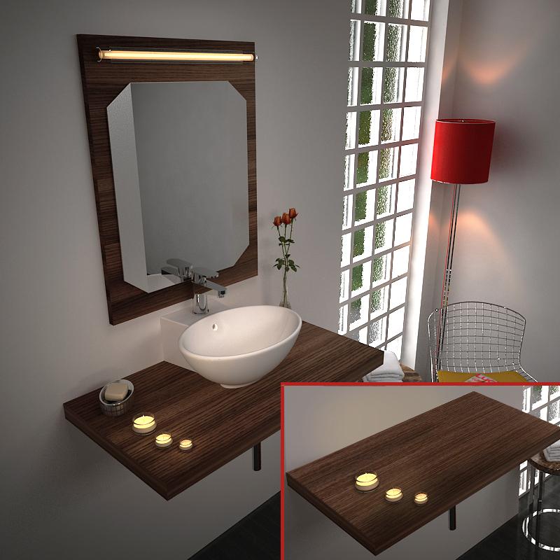 Bathroom Basin Floating Shelf Bathroom City
