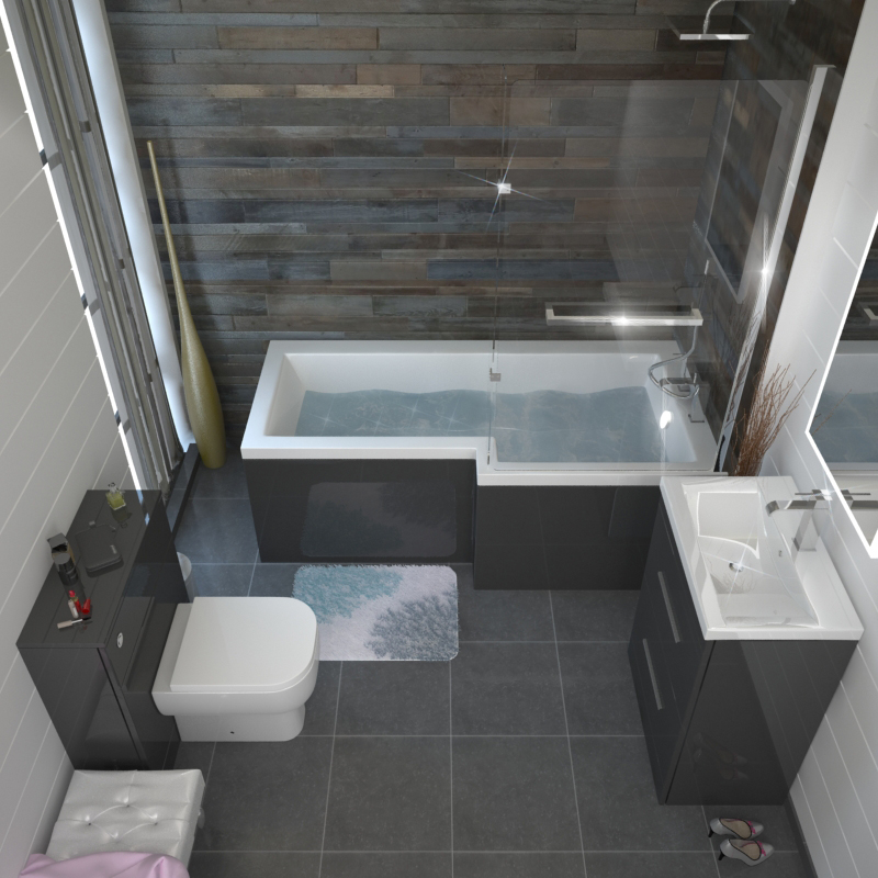 patello grey shower bath suite buy online at bathroom city ivo modern shower bath suite at victorian plumbing uk