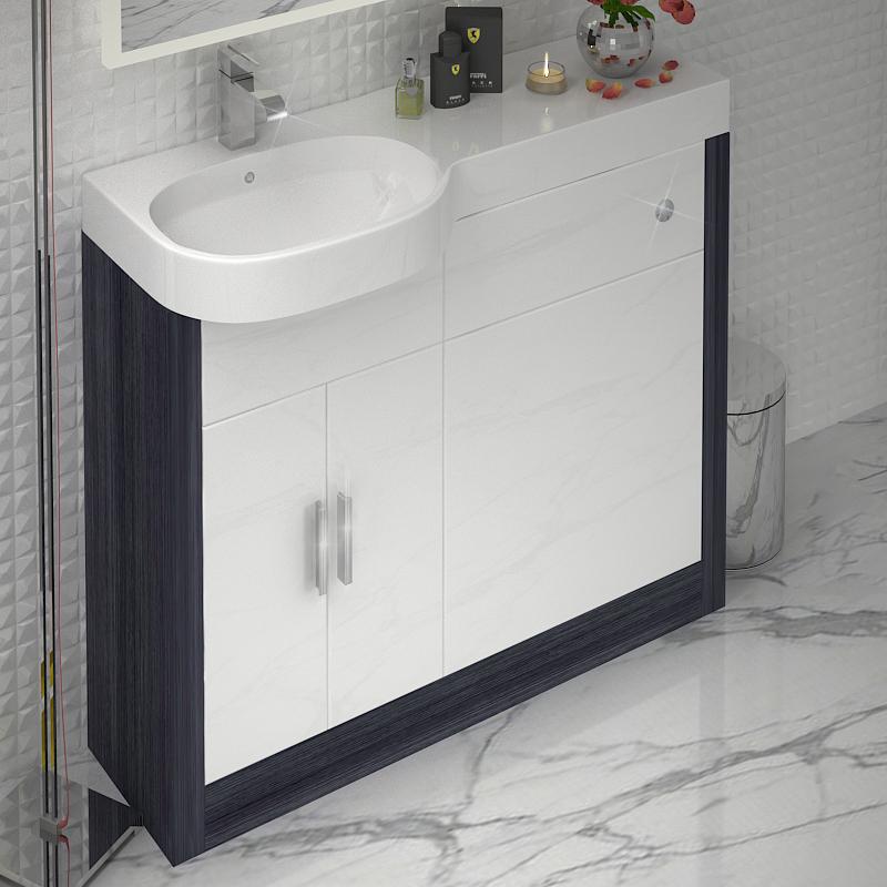 Hacienda 1000 Combination Vanity Unit Colour Options Lh