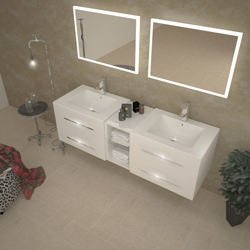 Awesome White Sink Vanity Unit Ideas - 3D house designs - veerle.us