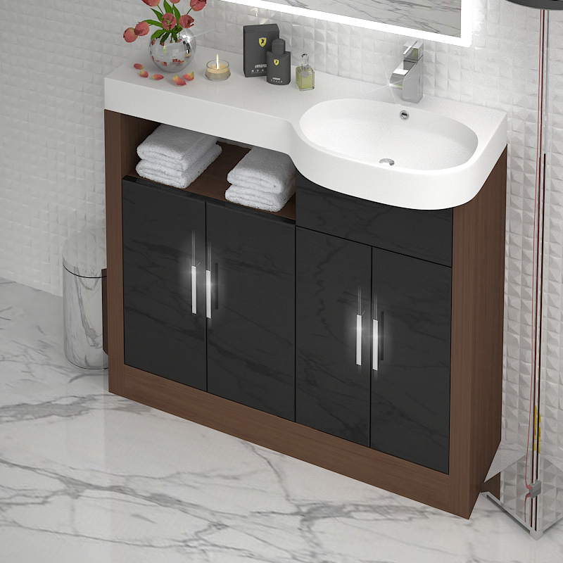 Lucido 1000 Double Storage Vanity Unit Buy Online At