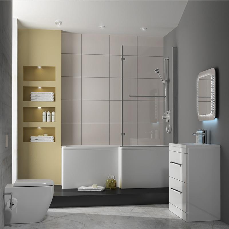 patello 60 white l shaped shower bath suite buy online at patello 60 white l shaped shower bath suite buy online at