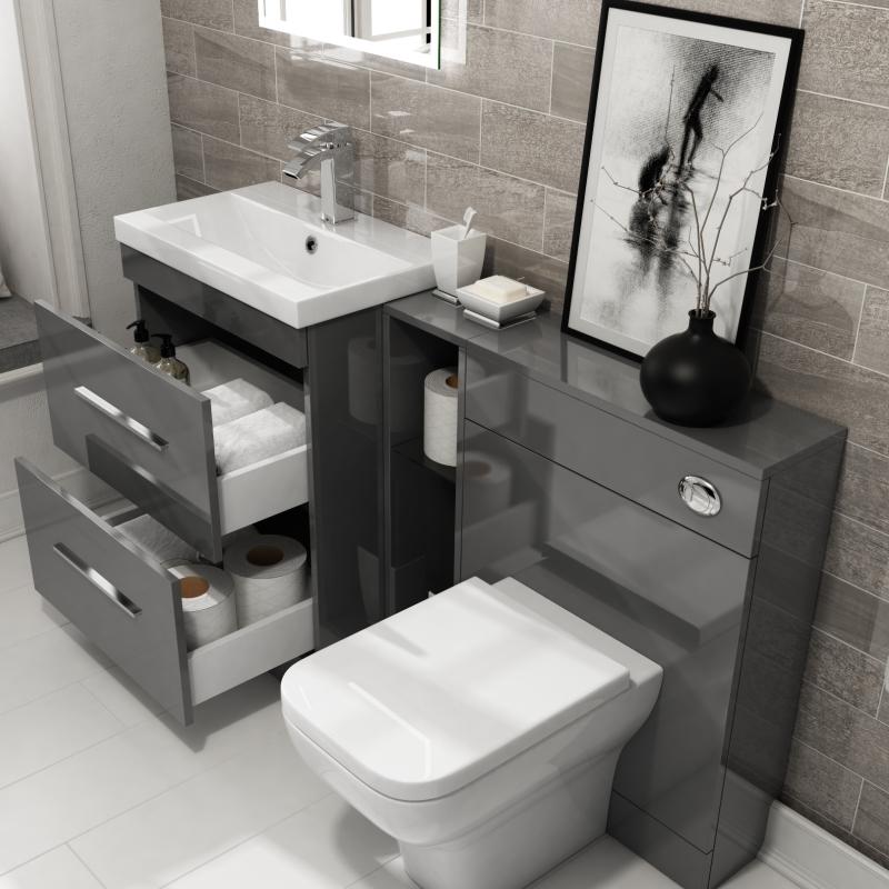 ... Patello 1400 Vanity Furniture Set Grey   174746 ...