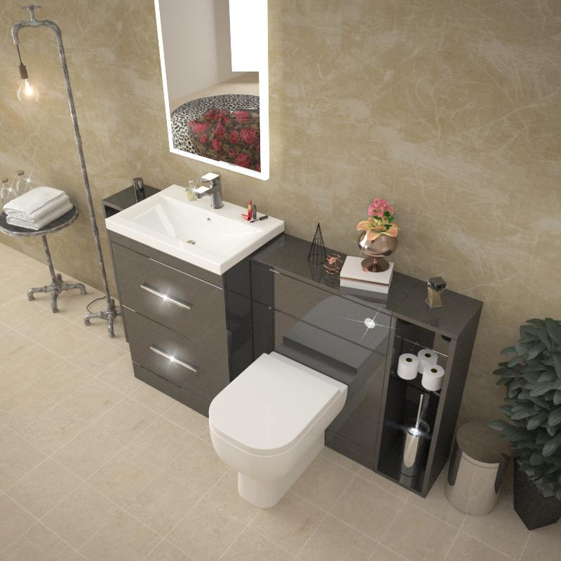 Creative Burford Pebble Grey Fitted Bathroom Furniture  Roper Rhodes