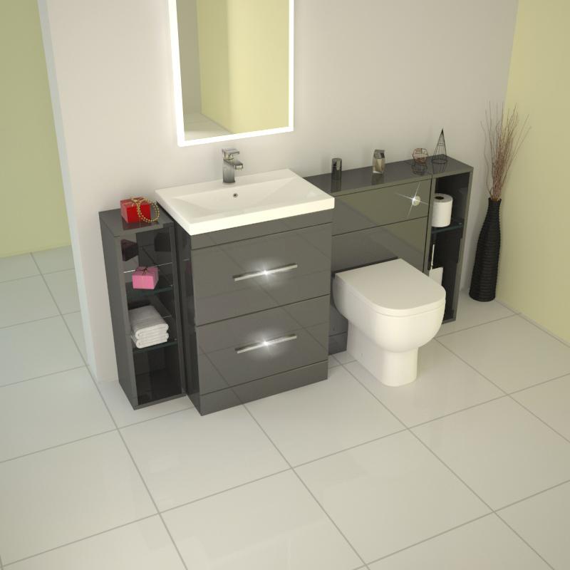 Cool Burford Pebble Grey Fitted Bathroom Furniture  Roper Rhodes