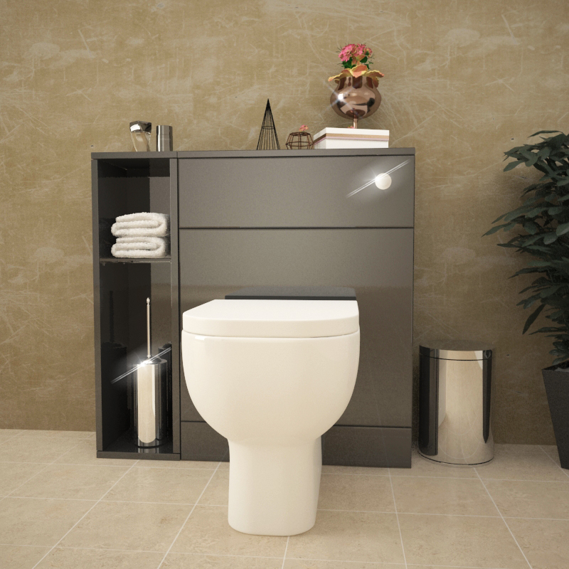 Patello Back To Wall 800mm Combination Unit Grey Buy