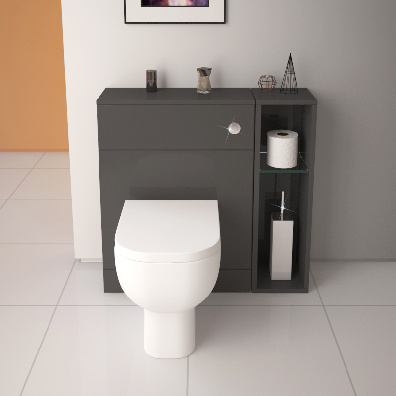 Patello Back To Wall 800mm Combination Unit Grey Buy Online At Bathroom City