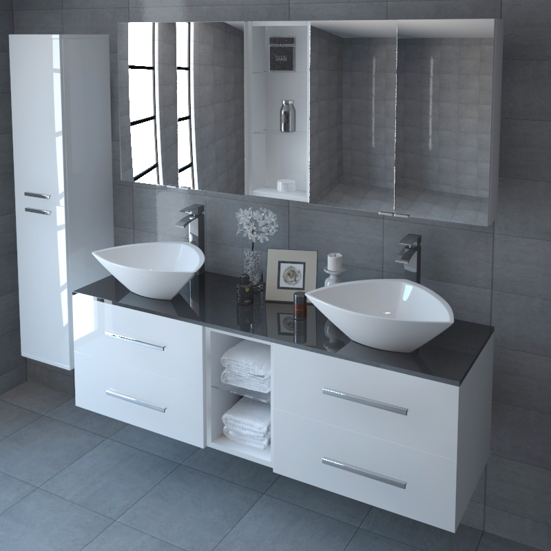 Tilly Sonix 1500 Glass Top Wall Hung Vanity Unit Inc Tilly