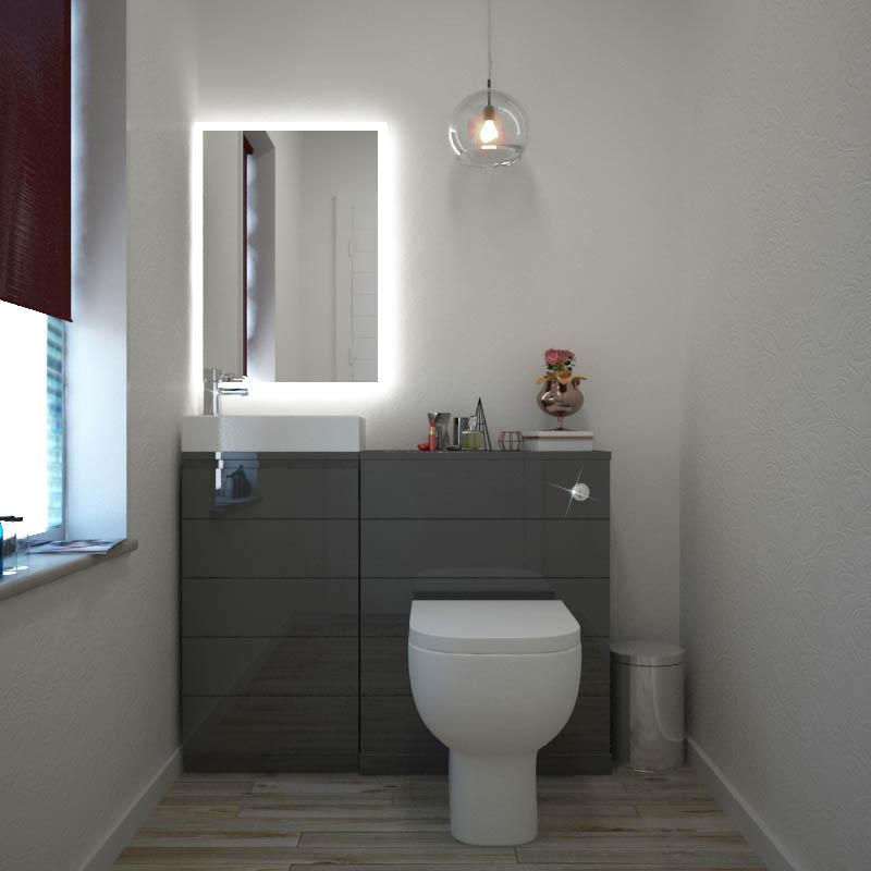 Mercury Grey 1010 Cloakroom Suite Buy Online At Bathroom City