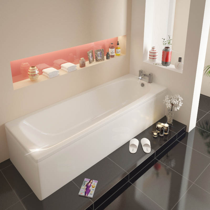 Laguna Super Strong Straight Bath 1700x700 Buy Online At