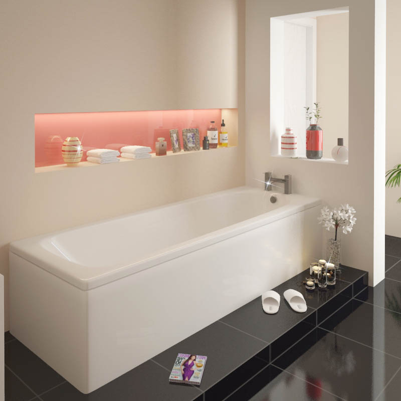 Laguna Super Strong Straight Bath 1700x700 Buy Online At Bathroom City