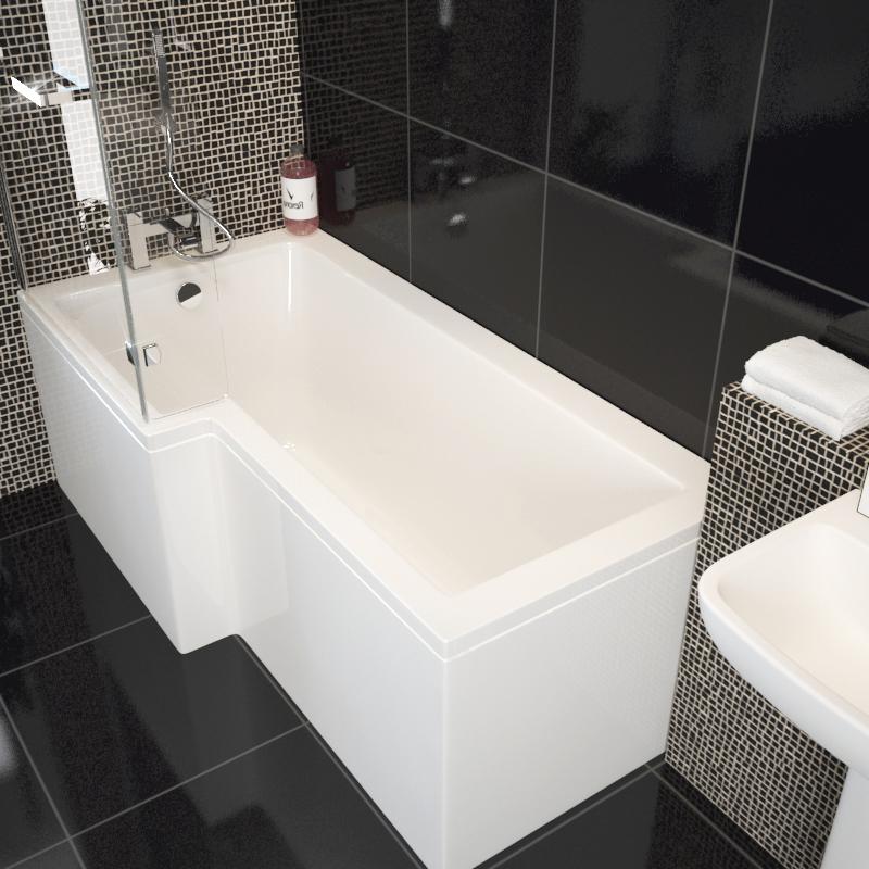 Laguna L Shape Shower Bath Left Handed Buy Online At