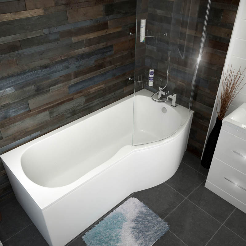 Shaped Baths Small Bathrooms: Patello P / B Shaped Shower Bath Right Handed 1700 Buy