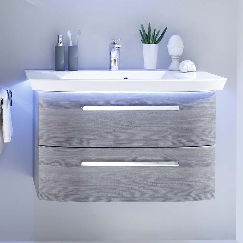 Contea Bathroom Wall Hung Vanity Unit 2 Drawers Buy Online at ...
