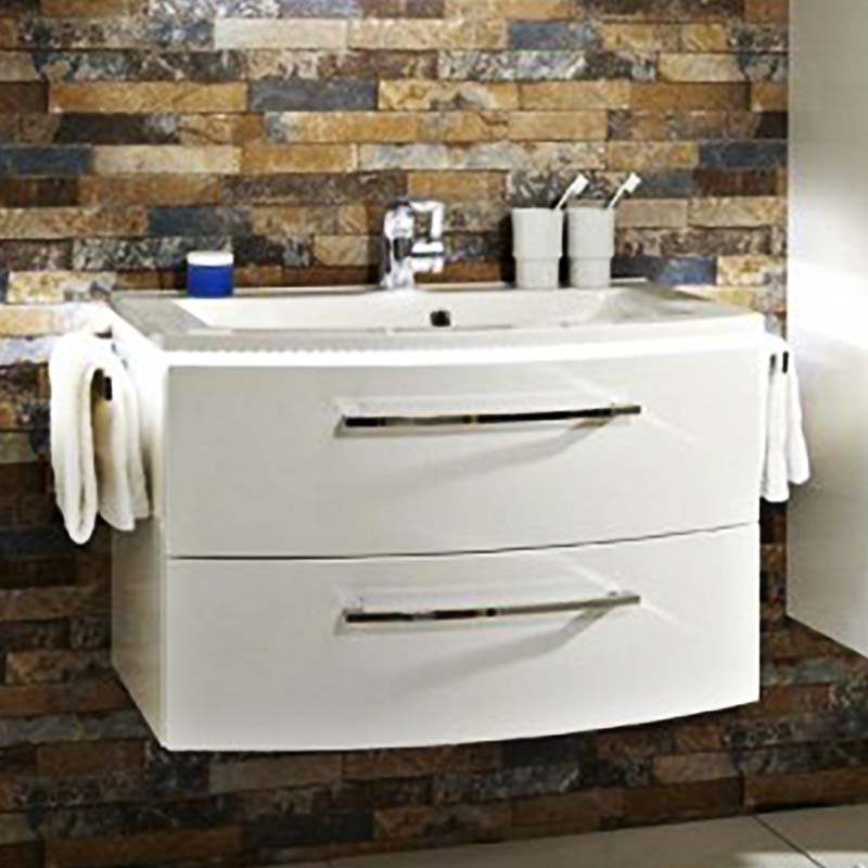 Lunic 800 Wall Hung Vanity Unit Including Basin Buy Online at ...