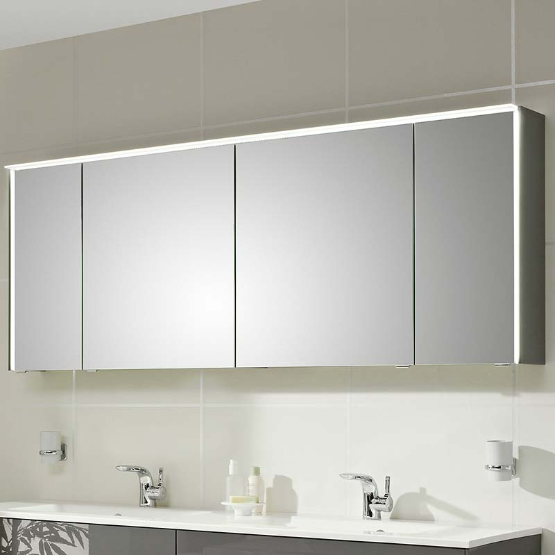 Solitaire 6010 Mirror Cabinet Inc Led Light Cornice And