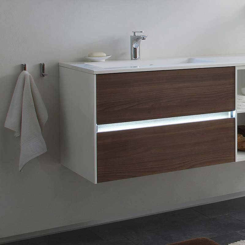 Luxury Wall Hung Design Solitaire 6010 Bathroom Vanity Unit 770 2 Drawer ...