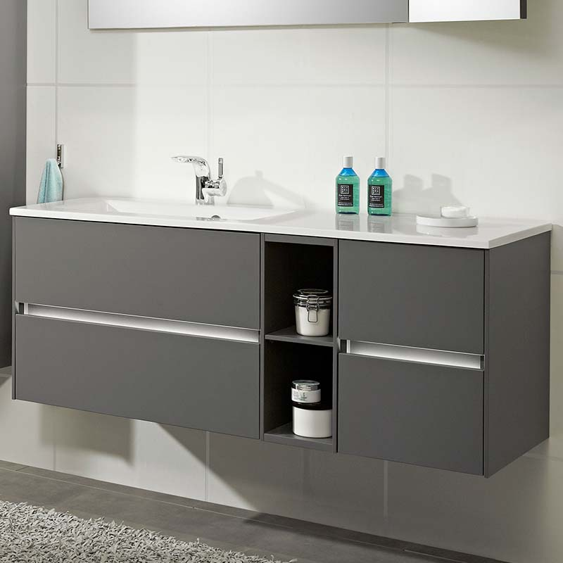 Stylish Solitaire 6010 1320 Bathroom Vanity Unit LH Or RH With 4 Drawers  And Shelf ...