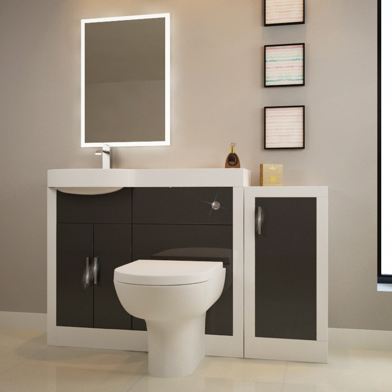 apollo bathroom fitted furniture set grey and storage unit buy at bathroom city