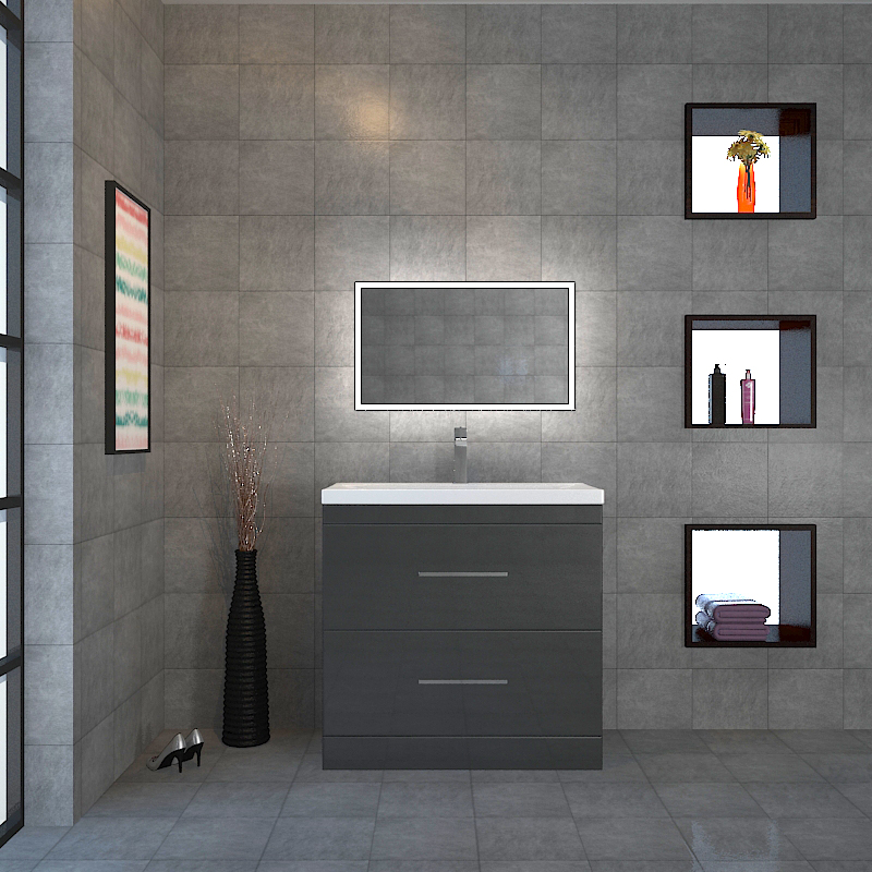 Patello 800 2 Draw Grey And Basin Buy Online At Bathroom City