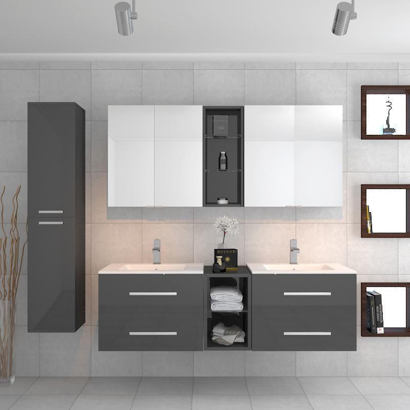 Buy Sonix Grey Bathroom Suite 2 Units 2 Mirrors And Storage