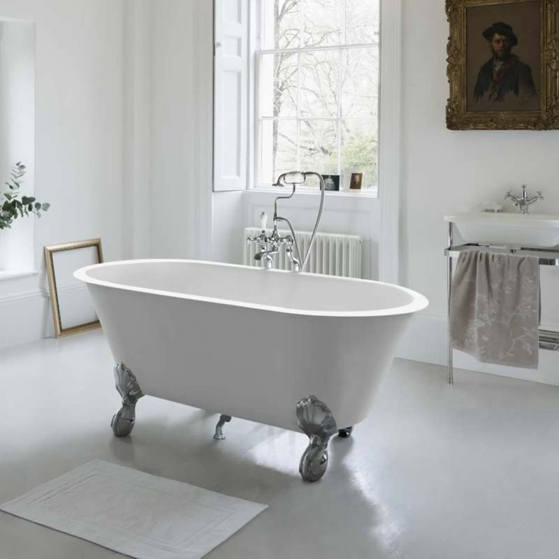 Classico Grande Freestanding Roll Top Bath Large Claw Foot