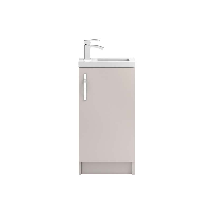 Apollo 400mm free standing compact bathroom cabinet and for Bathroom cabinets 400mm high
