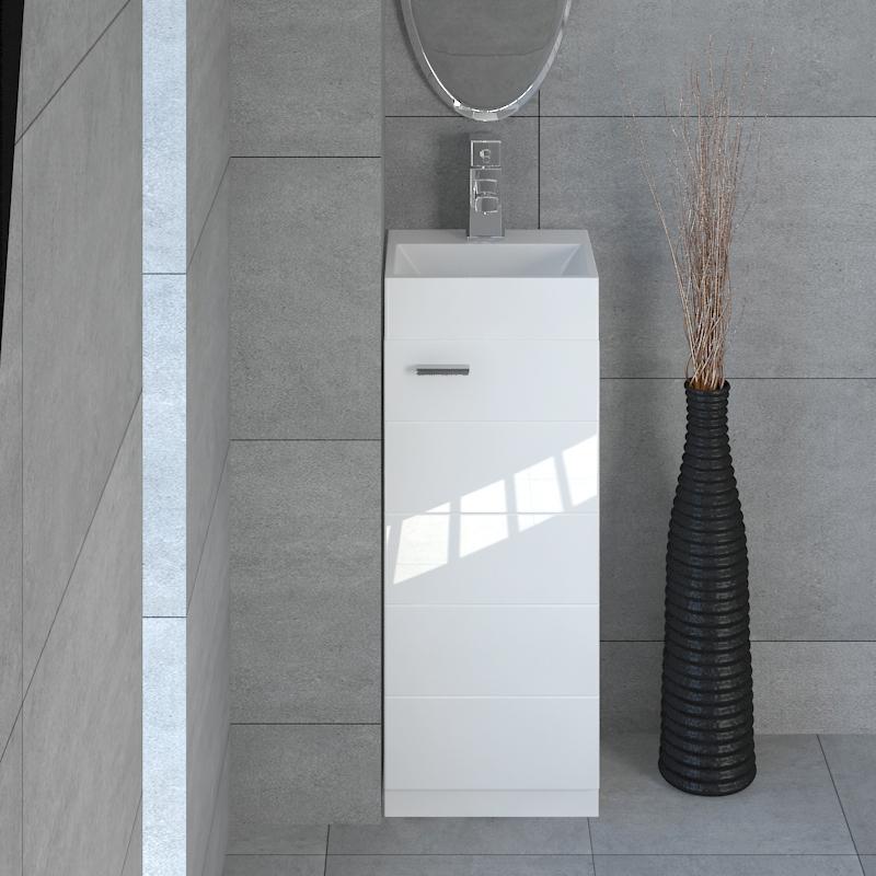 Buy Mercury 325 Small Storage Vanity Unit And Basin Online