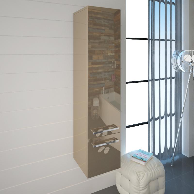 Bathroom Wall Hung Tallboy Gold Pemberton Gold Tall Wall Hung Storage Unit  ...