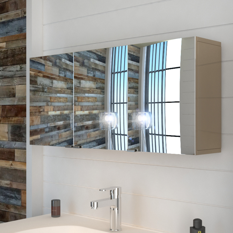 Bathroom 3 Door Mirror Wall Cabinet ...