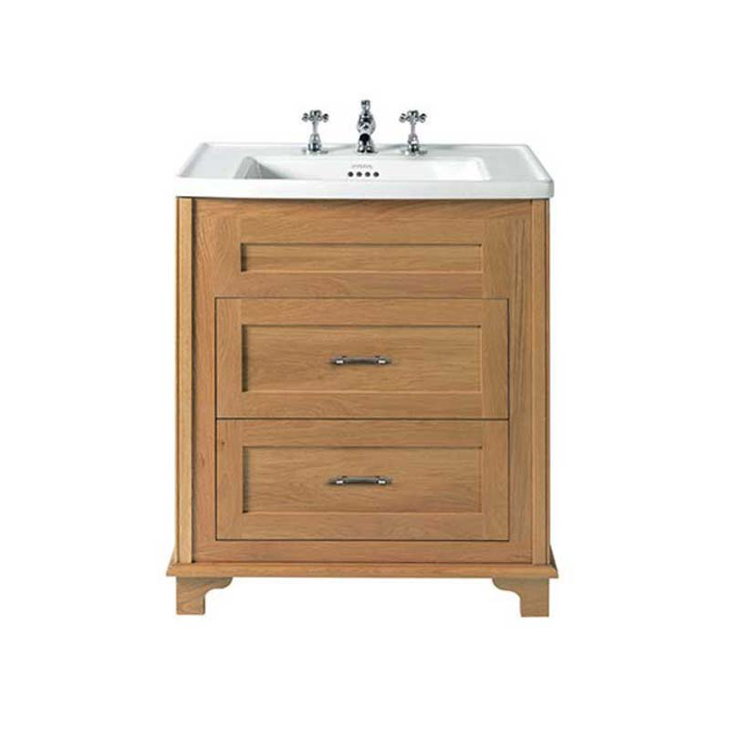 Beau Traditional Designer Thurlestone Traditional 2 Draw Bathroom Vanity Unit  Solid Wood Straight Basin ...