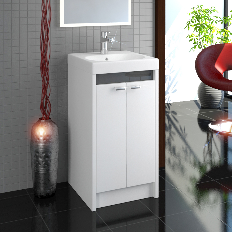 Buy Switch 40 2 Door Compact Small Vanity Unit And Basin
