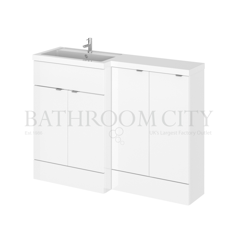 1200 bathroom combination vanity storage unit and basin colour options buy online at bathroom city for Bathroom combination vanity units