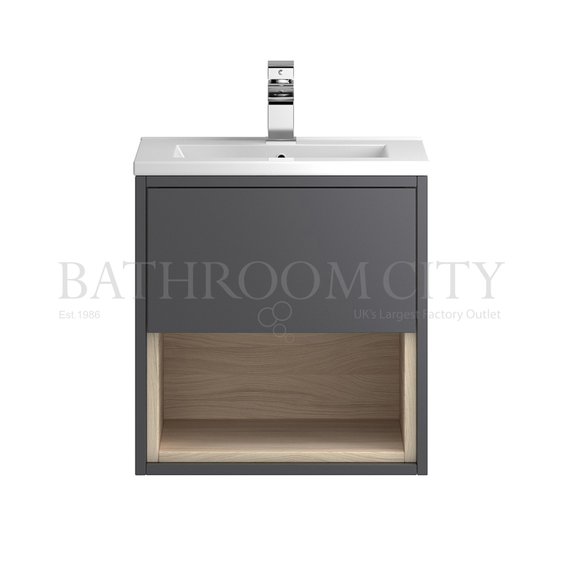 Coast wall hung 500 cabinet with storage basin buy for Bathroom cabinets 500