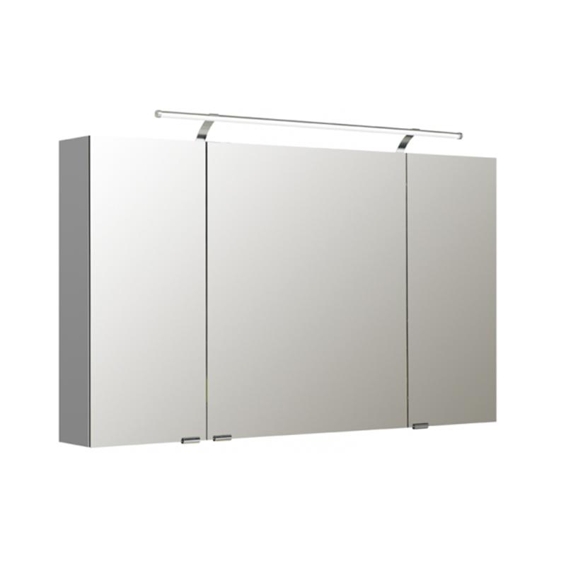 1200 mirror cabinet 3 door and light buy online at bathroom city