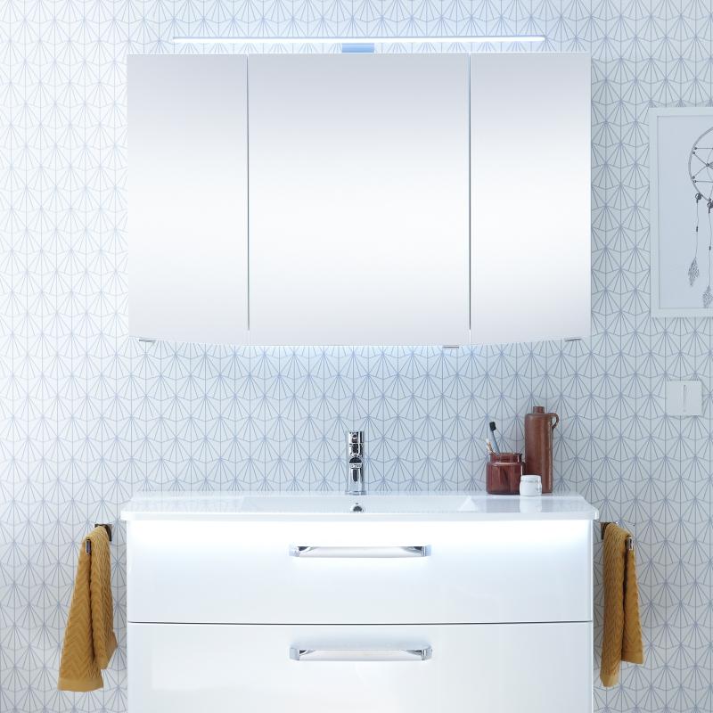Buy Solitaire 9020 Bathroom Mirrored Cabinet 3 Mirrored Doors Online